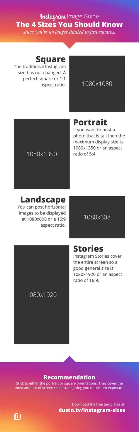 Instagram Photo Dimensions Instagram Sizes And Dimensions 2018 Everything You Need