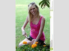 Pretty Woman Gardening Royalty Free Stock Photo Image