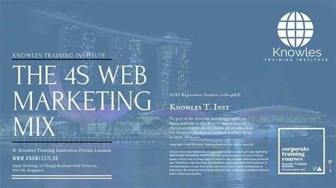 web marketing course the 4s web marketing mix course in singapore