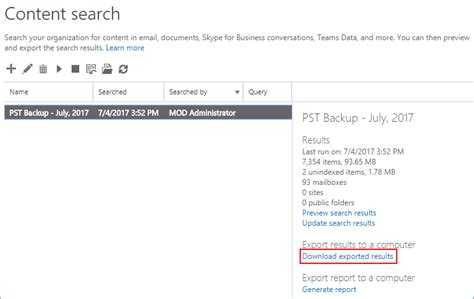 Office 365 Mail Export by Office 365 Export Mailboxes To Pst Using Ediscovery