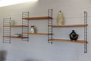 étagère 60 Cm Largeur : etag re murale m tal ann es 50 art design ~ Teatrodelosmanantiales.com Idées de Décoration