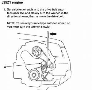 2007 Honda Pilot Serpentine Belt Routing