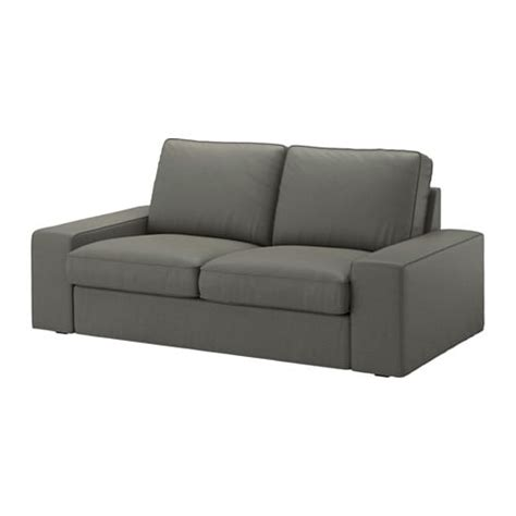 mini canapé ikea kivik loveseat borred gray green ikea