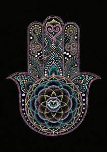 Dot Hamsa Hand Mandala | Featured, Mandalas and Hamsa