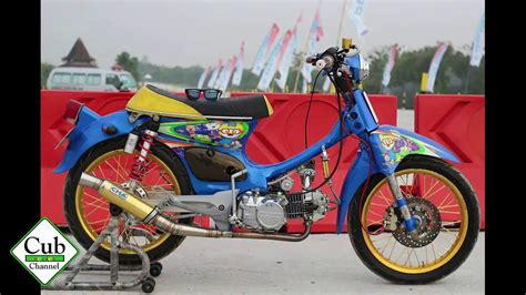 Modif Racing honda c70 modif racing look hobbiesxstyle