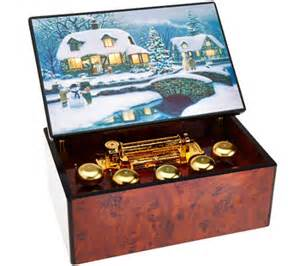 mr christmas concertina music box with illuminart qvc com