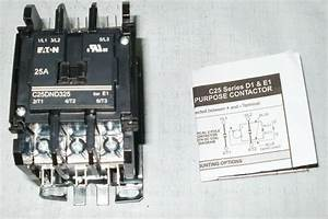 Eaton C25dnf325b Definite Purpose Contactor 3 Pole 208