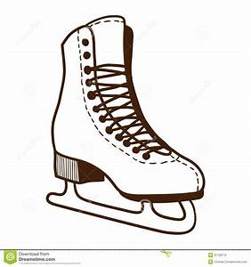 Ice Skates Isolated On White. Stock Vector - Illustration ...