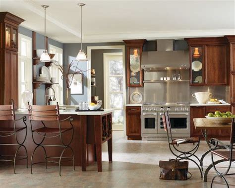 slate blue and cherry search style for the home kitchen cabinets