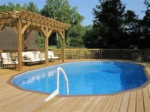 piscine hors sol bois idees et conseils pour votre jardin With deco piscine hors sol