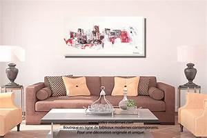 Tableau Salon Moderne : grande toile abstraite mer beige clair format panoramique cr ation d 39 exception pour int rieurs chics ~ Farleysfitness.com Idées de Décoration