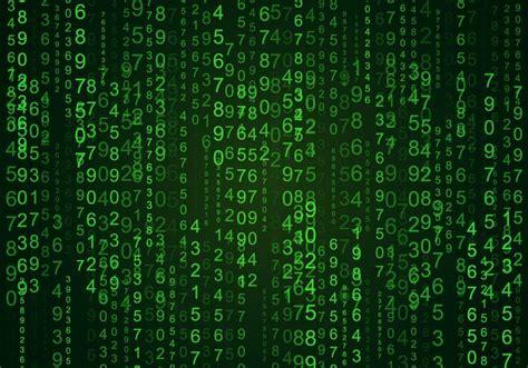 random numbers matrix background   vector
