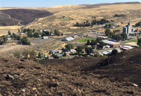 kahlotus fire fully contained  power restored  town