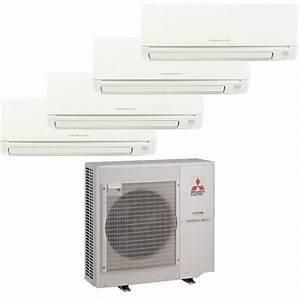 Mitsubishi Mr Slim 4 Zone Heat Pump With  3  9k Btu Indoor