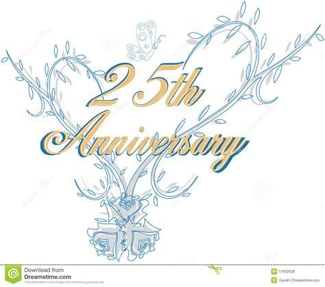 25th wedding anniversary stock vector Illustration of