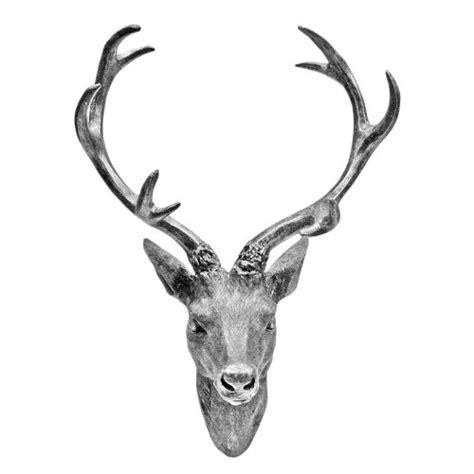 geweih deko silber hirschgeweih hirschkopf geweih 10 ender in silber metall optik 30 x 40 cm figur skulptur deko