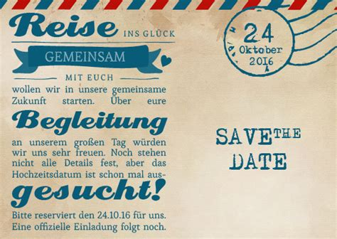 save  date karten ticket airmail
