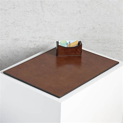 bureau mat personalised leather desk mat by of