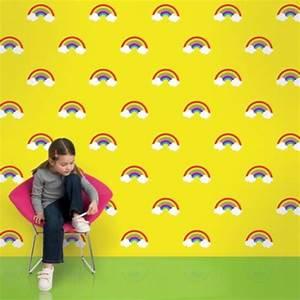 Regenbogen Tapete Kinderzimmer : bunte tapeten f r kinderzimmer von allison krongard ~ Sanjose-hotels-ca.com Haus und Dekorationen