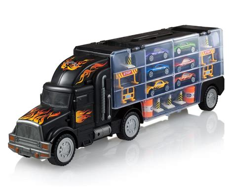 amazon com toy truck transport car carrier toy truck