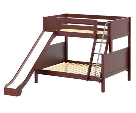 Maxtrix Slick Twin Over Full Bunk Bed With Slide