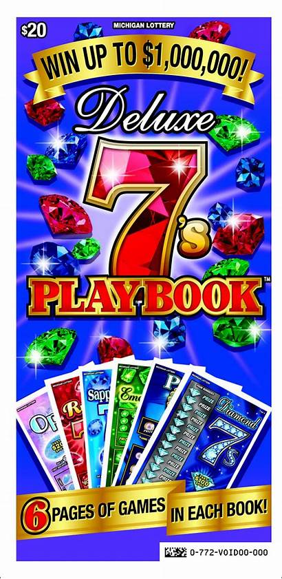 Playbook Deluxe Michigan Instant Games Six Lottery