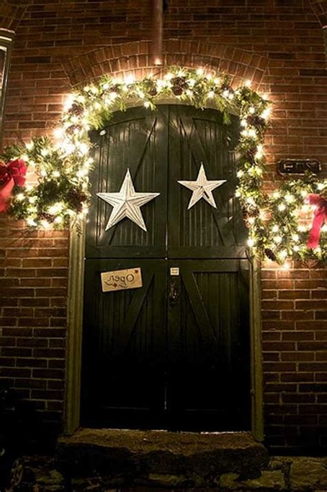creative front door christmas decorations