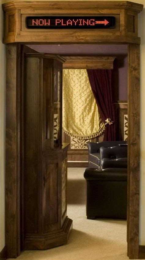 Creative Concept Home Theater Ticket Booth Door For Your