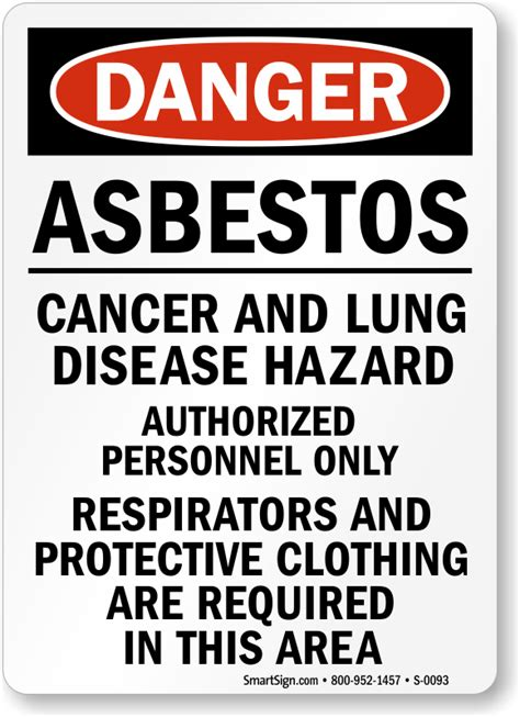 asbestos cancer lung disease hazard danger sign
