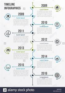 Vertical Timeline Infographics Template  Workflow Or