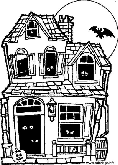 dessin maison a imprimer coloriage maison hantee dessin