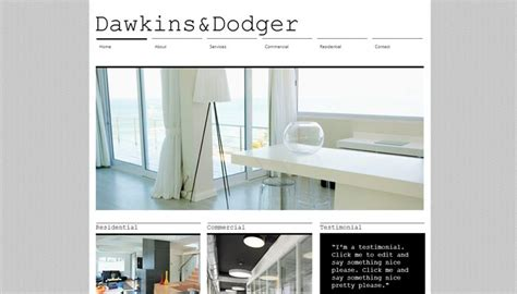 architecture portfolio templates  architect websites