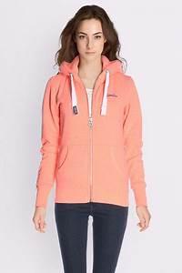 Sweat A Capuche Femme Marque : superdry sweat shirt g20012xpf6 corail femme des marques et vous ~ Melissatoandfro.com Idées de Décoration