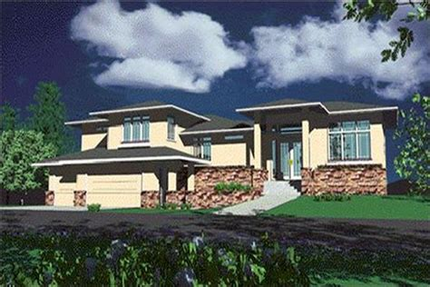 prairie style house plans  plan collection