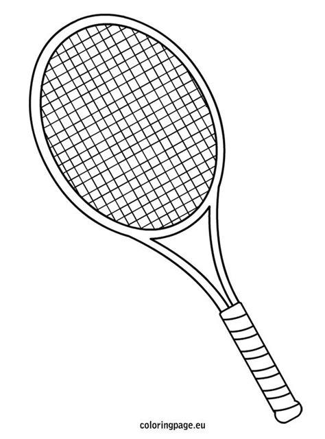 Kleurplaat Badminton by Tennis Racket Coloring Page Quilting Appliqu 233