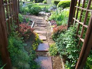 front yard landscape design ideas with no grass access With no grass garden ideas