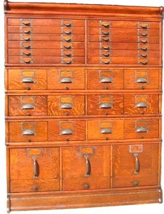 Vintage Library Card File Cabinet by Sweetwater Cottage Library Card File Cabinet