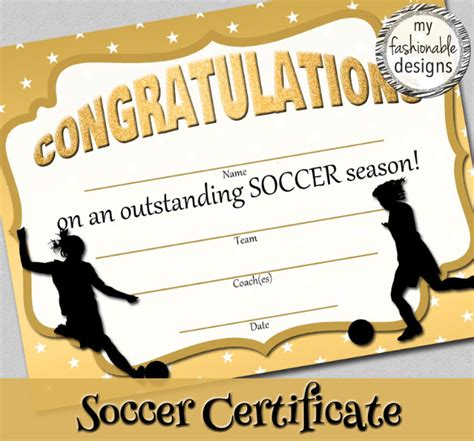 Soccer Award Certificate Templates Free by 15 Soccer Certificate Templates To Sle Templates