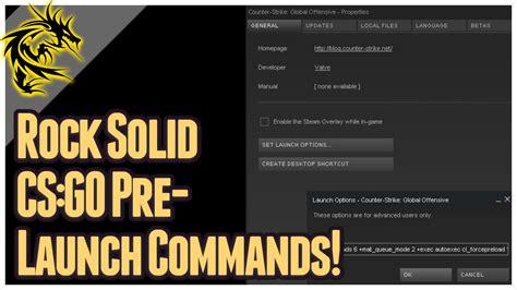 csgo basics set   pre launch commands