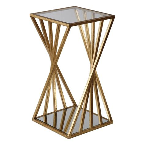 Uttermost Login by Uttermost 24723 Janina Gold Dimensional Accent Table
