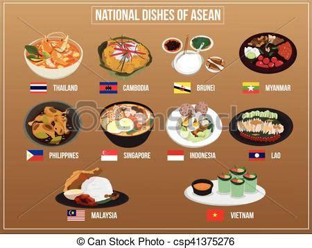 vector illustration  asean economics community food