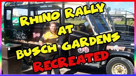 Rhino Rally Busch Gardens by Rhino Rally At Busch Gardens Reenacted Ep 141 Confessions