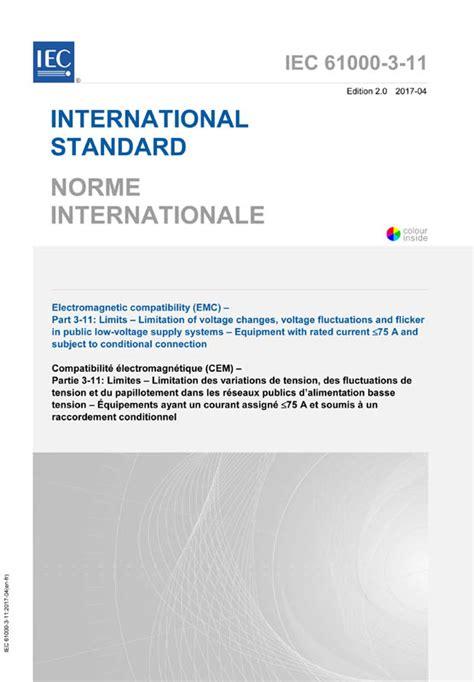 Iec 610003112017  Iecnormen  Vde Verlag