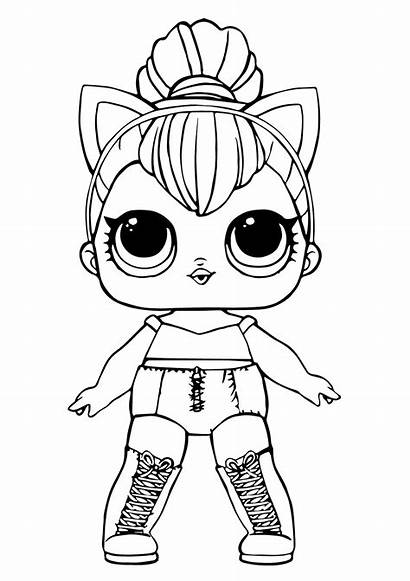 Lol Doll Queen Kitty Coloring Printable Dolls