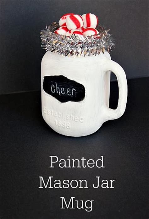 decoart blog crafts christmas chalkboard mason jar mug