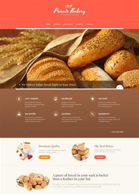 bakery website themes templates  premium