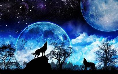 Howling Wolf Moon Wolves Forwallpaper