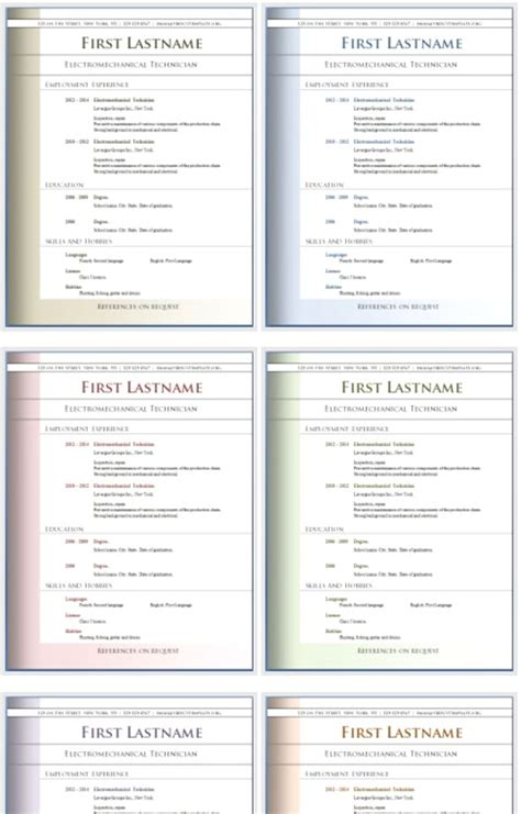 50 free microsoft word resume templates for
