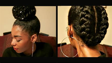 4 Protective Natural Hairstyles To Retain Length Youtube