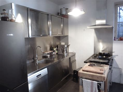 meuble inox cuisine pro meuble de cuisine inox cuisine idées de décoration de